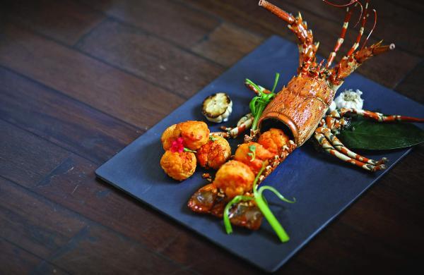 New menu at Golden Dragon, Taj Coromandel, Chennai, curated by Master Chef Lian Yun Lei. Crispy Lobster with Chili Butter Sauce.
