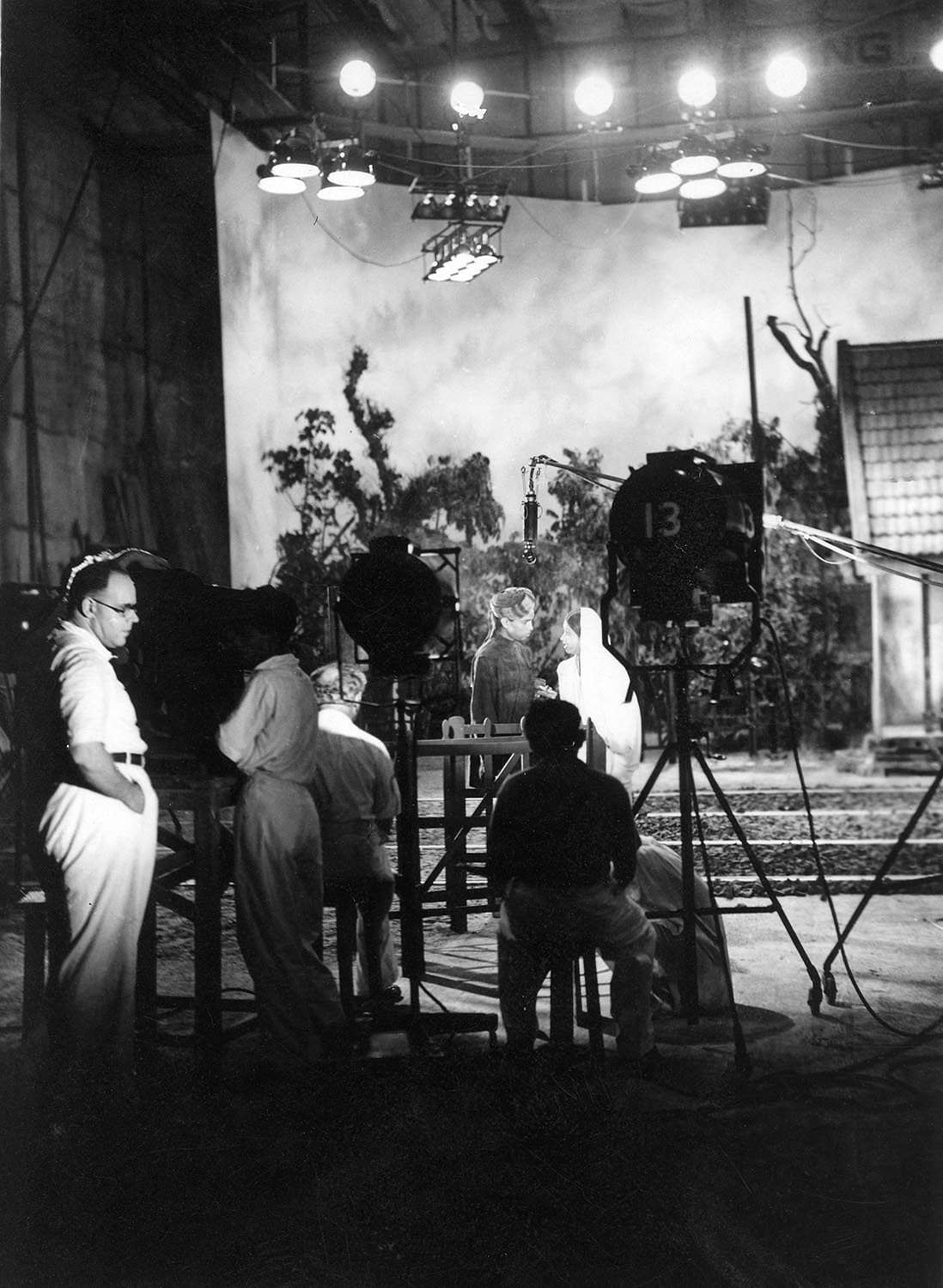Josef Wirsching on set for the filming of the Bombay Talkies production of Achhut Kanya (1936).