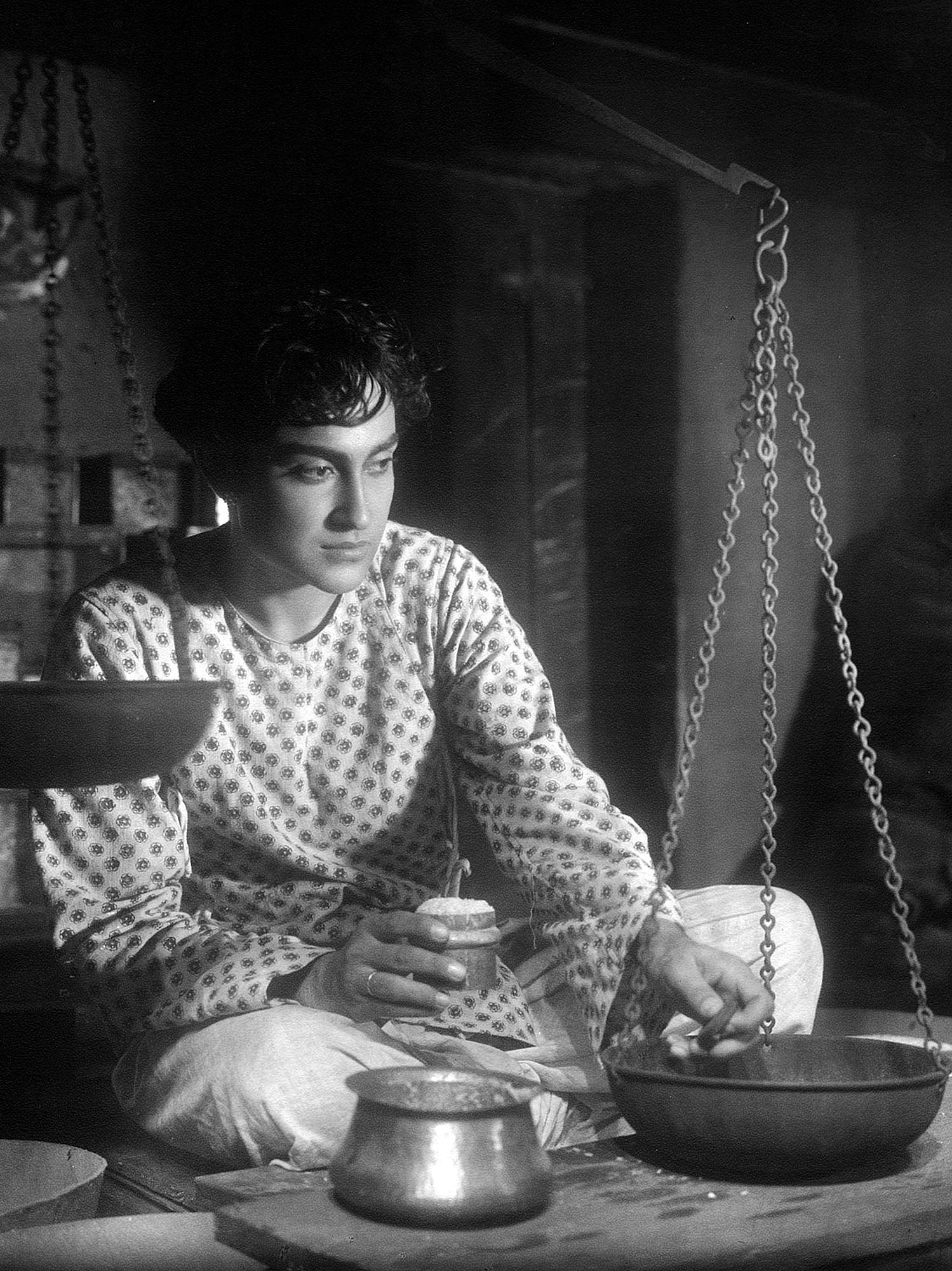 Ashok Kumar in a publicity still for the Bombay Talkies production of Achhut Kanya (1936).