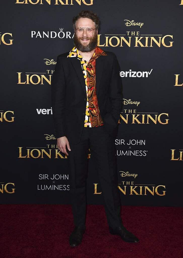 Seth Rogen arrives at the world premiere of 'The Lion King' on Tuesday, July 9, 2019, at the Dolby Theatre in Los Angeles. (Photo by Jordan Strauss/Invision/AP)