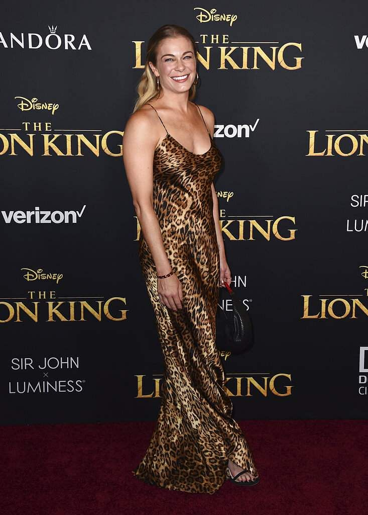 LeAnn Rimes arrives at the world premiere of 'The Lion King' on Tuesday, July 9, 2019, at the Dolby Theatre in Los Angeles. (Photo by Jordan Strauss/Invision/AP)