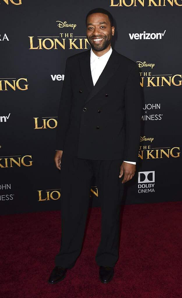 Chiwetel Ejiofor arrives at the world premiere of 'The Lion King' on Tuesday, July 9, 2019, at the Dolby Theatre in Los Angeles. (Photo by Jordan Strauss/Invision/AP)