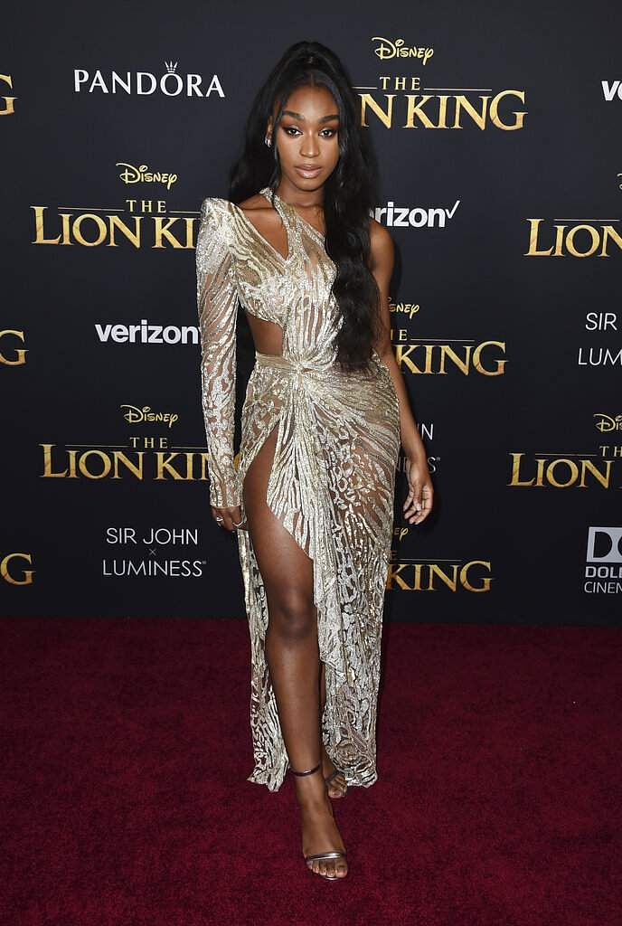 Normani arrives at the world premiere of 'The Lion King' on Tuesday, July 9, 2019, at the Dolby Theatre in Los Angeles. (Photo by Jordan Strauss/Invision/AP)