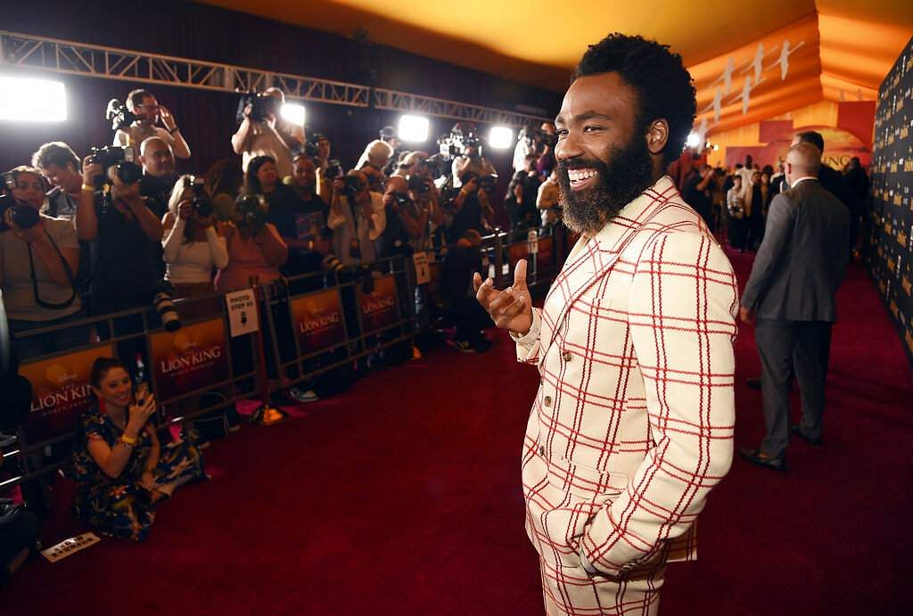 Donald Glover, a cast member in 'The Lion King,' poses at the premiere of the film at the El Capitan Theatre, Tuesday, July 9, 2019, in Los Angeles. (Photo by Chris Pizzello/Invision/AP)