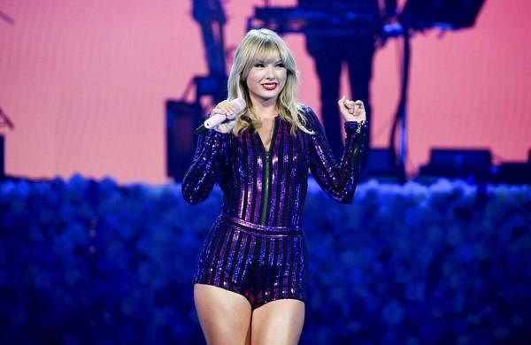 Singer Taylor Swift performs at Amazon Music's Prime Day concert in New York. (Photo by Evan Agostini/Invision/AP)