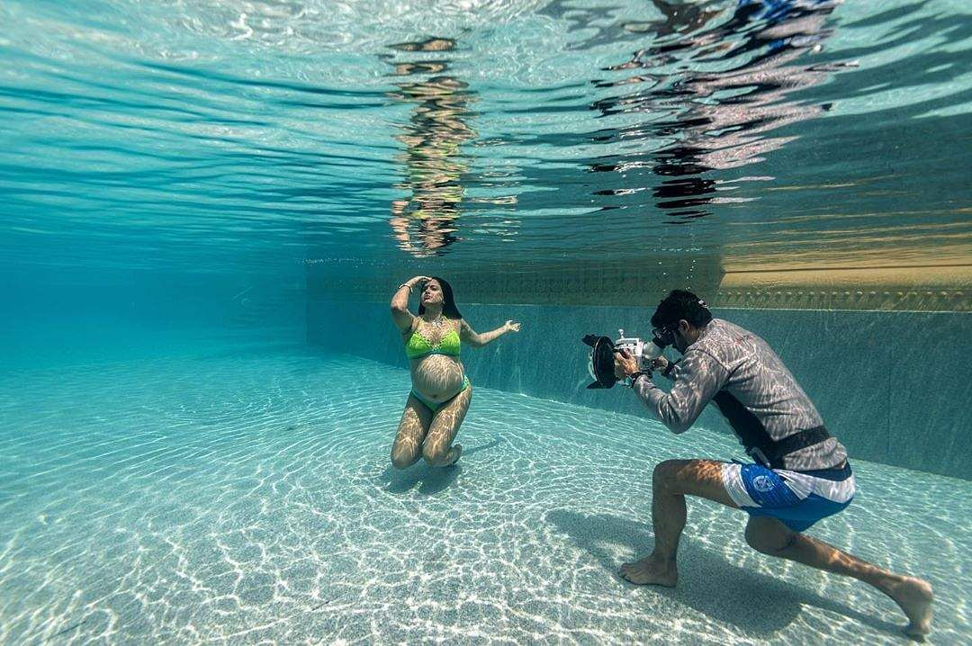 In pics: Sameera Reddy's a mom again; from underwater baby bump to #imperfectlyperfect campaign. (All images: Instagram)