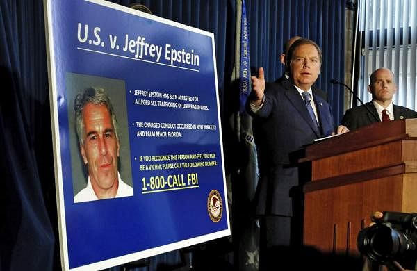United States Attorney for the Southern District of New York Geoffrey Berman speaks during a news conference, in New York. (AP Photo/Richard Drew)