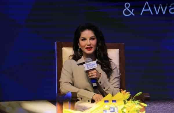 Sunny Leone in Goregaon (Photo: IANS)