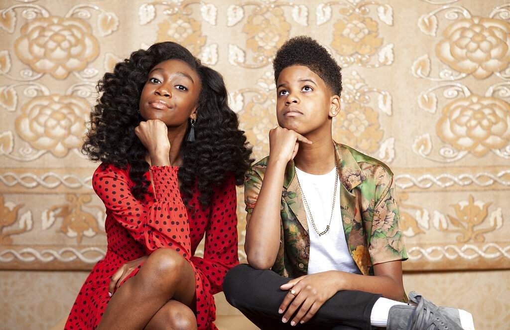 Shahadi Wright Joseph and JD McCrary pose for a portrait at the Montage Hotel in Beverly Hills, California, to promote their film The Lion King. (Photo by Rebecca Cabage/Invision/AP)
