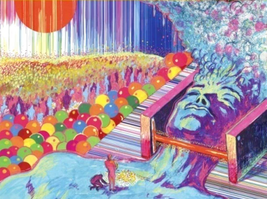 Warner Bros image shows King's Mouth: Music and Songs by The Flaming Lips (Warner Bros Records via AP)