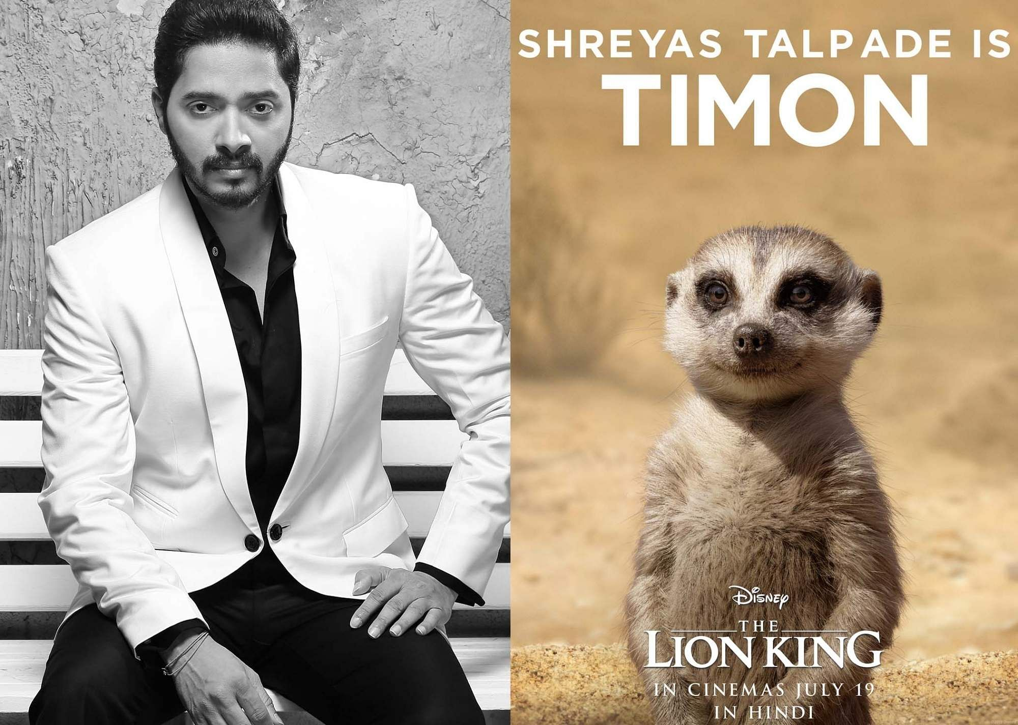 Shreyas Talpade is Timon in the Hindi version of The Lion King (Photo: IANS)