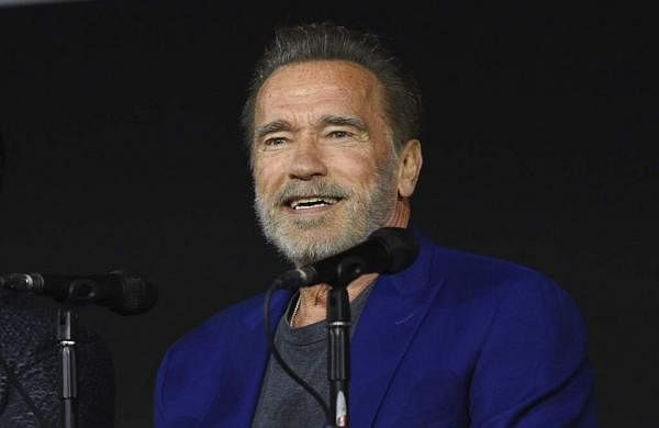 Arnold Schwarzenegger at Comic-Con, San Diego (Photo by Chris Pizzello/Invision/AP)