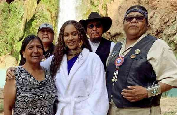 Beyoncé at Havasu Falls in Supai, Ariz (Parkwood Entertainment via AP)