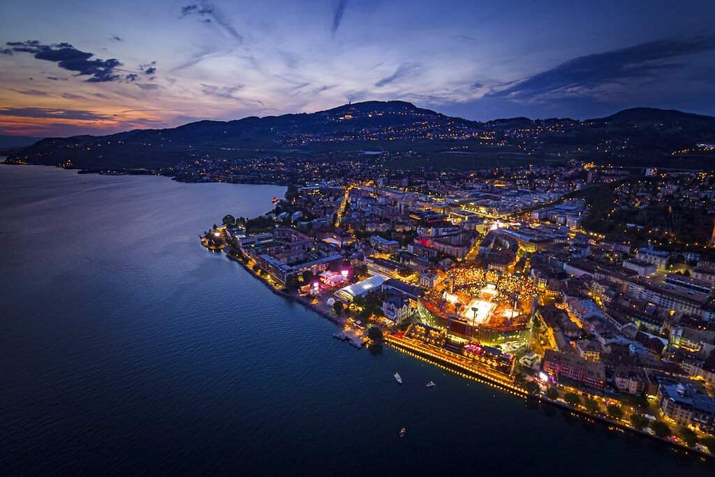 The Fete des Vignerons (winegrowers' festival in French), hosted in Vevey, Switzerland by a brotherhood of winegrowers since 1979, is on until August 11. (Valentin Flauraud/Keystone via AP)