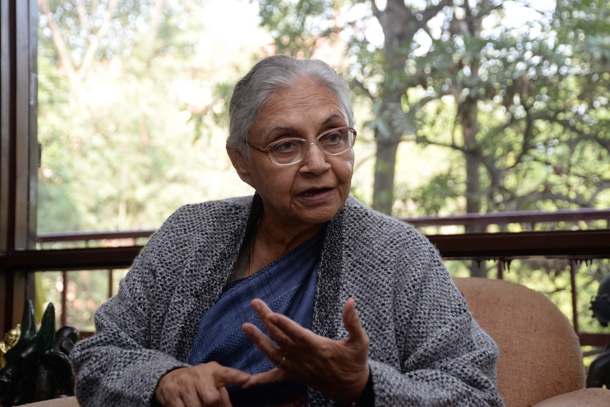 Former Delhi Chief Minister and Congress leader Sheila Dixit (Photo: Bidesh Manna/IANS)