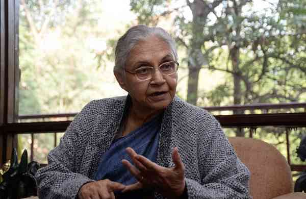 Former Delhi Chief Minister and Congress leader Sheila Dixit (Photo: Bidesh Manna/IANS)