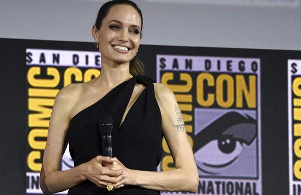 Angelina Jolie attends the Marvel Studios panel on day three of Comic-Con International on Saturday, July 20, 2019, in San Diego. (Photo by Chris Pizzello/Invision/AP)