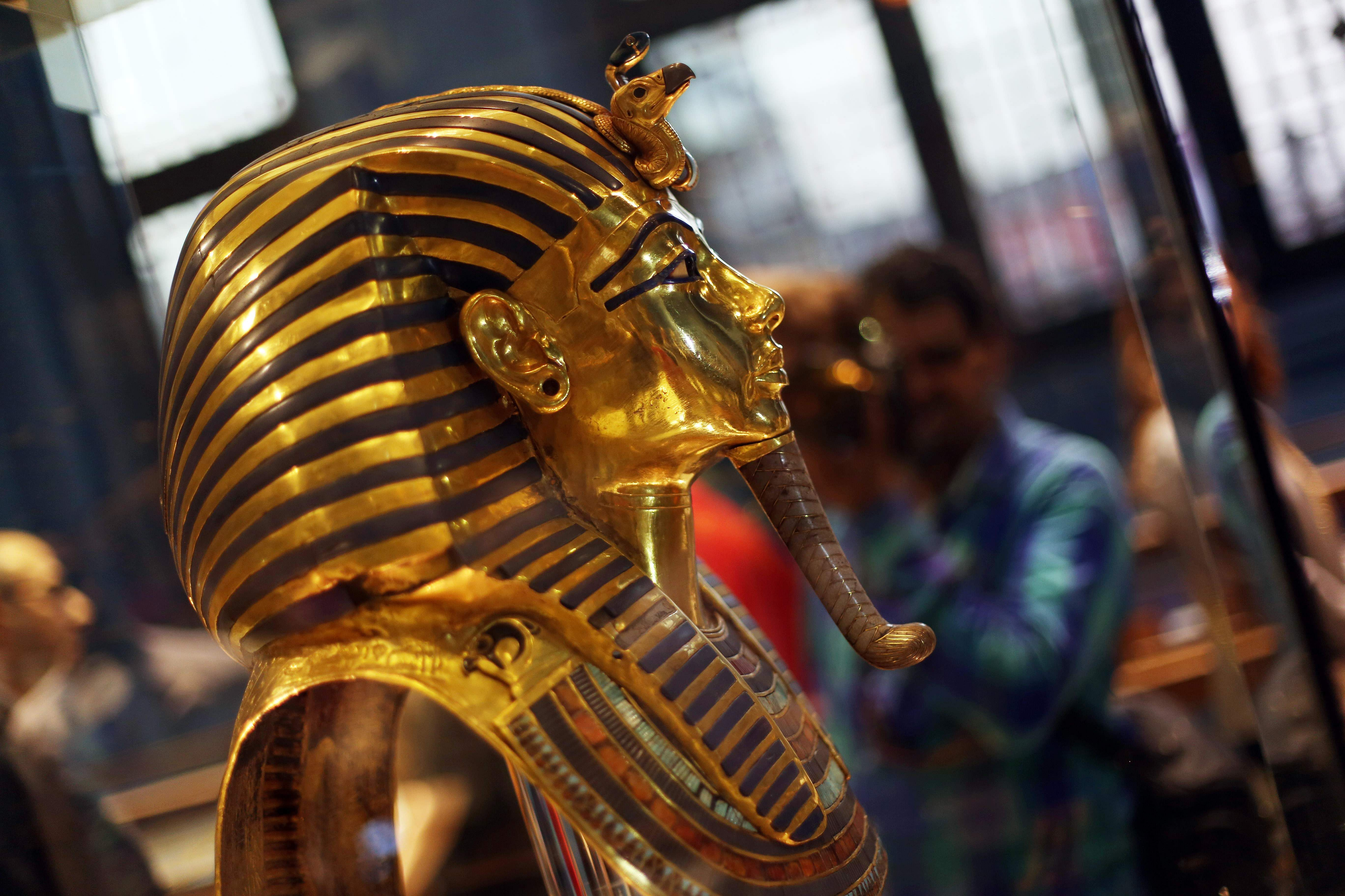 The golden burial mask of King Tutankhamun (Xinhua/Ahmed Gomaa/IANS)