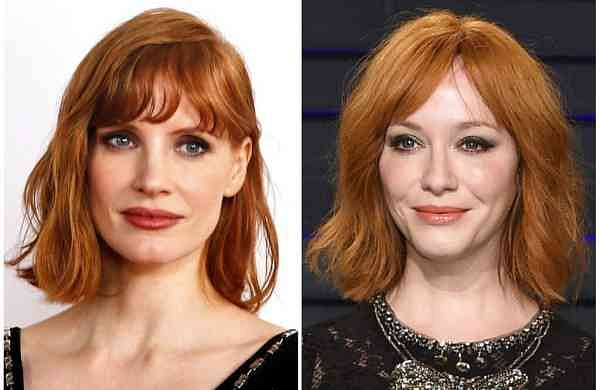 Combination photo: Jessica Chastain and Christina Hendricks (AP Photo)