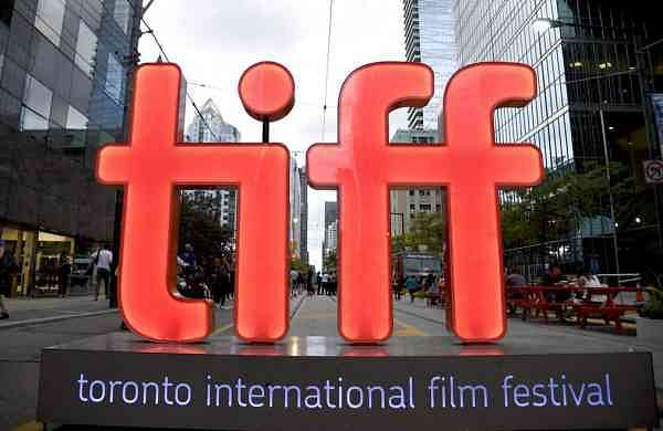 A view of a festival sign of the Toronto International Film Festival (Photo by Chris Pizzello/Invision/AP)