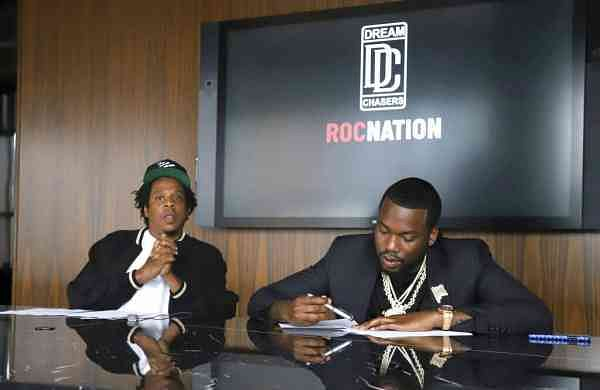 Jay-Z and Meek Mill (Photo by Greg Allen/Invision/AP)