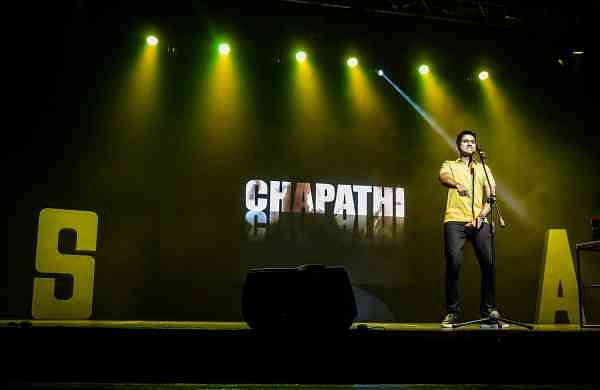 Aravind on stage
