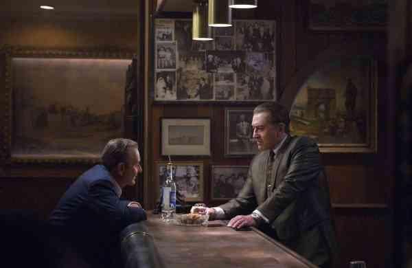 Joe Pesci and Robert De Niro in a scene from The Irishman (Niko Tavernise/Netflix via AP)