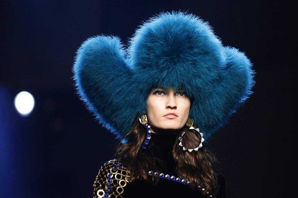 A model wears a creation for the Jean Paul Gaultier Haute Couture Fall-Winter 2020 fashion collection presented in Paris, Wednesday, July 3 2019. (AP Photo/Kamil Zihnioglu)