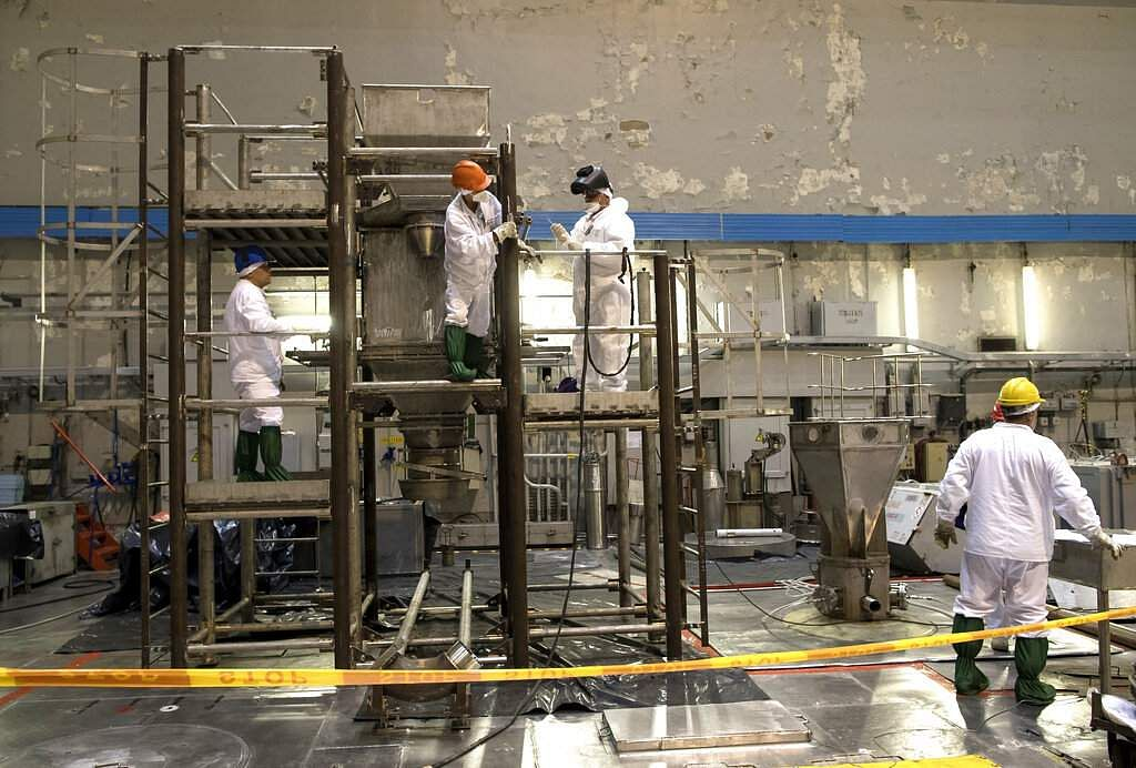 Workers dismantle a Reactor 1 Hall of Ignalina Nuclear Plant in Visaginas near the capital Vilnius, Lithuania. The HBO series Chernobyl is drawing tourists to Lithuania. (AP Photo/Mindaugas Kulbis)