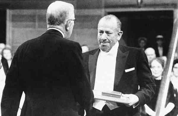 1962 file photo: John Steinbeck receives the Nobel Prize for Literature (AP Photo, File)