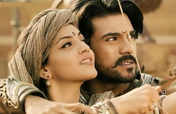 Kajal and Charan in Magadheera