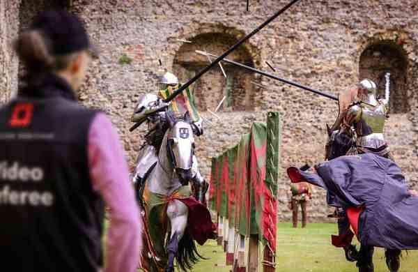 Medieval jousting brought up-to-date (Jim Holden/English Heritage via AP)