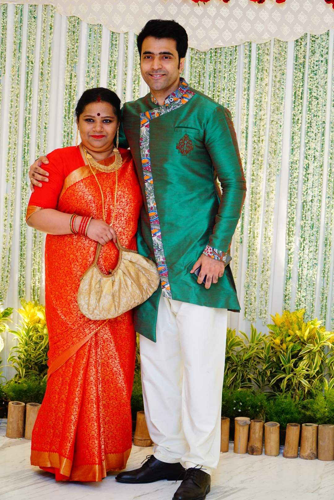 Abir Chatterjee with wife Nandini