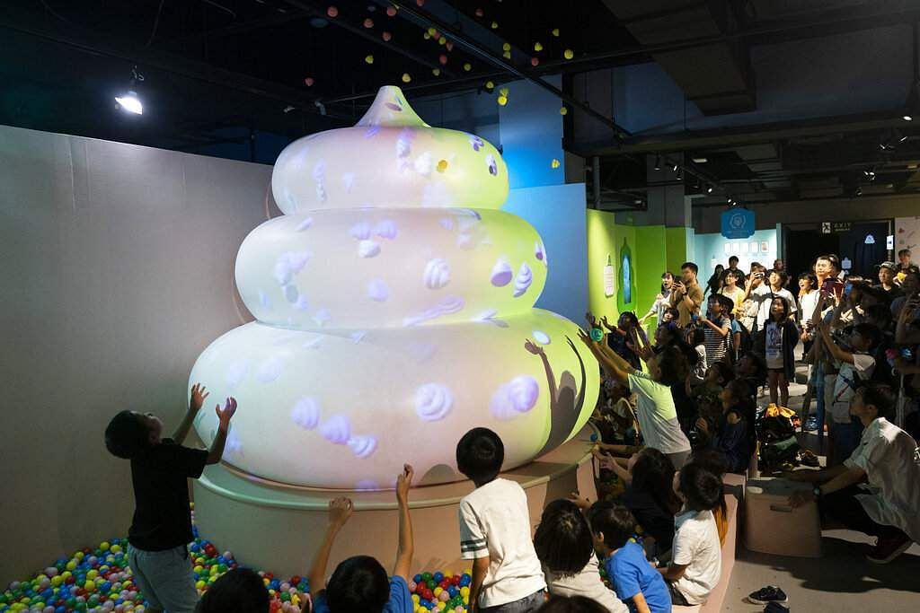 A pop-up show at Unko Museum in the port city of Yokohama is all about unko, a Japanese word for poop. The installations get cute makeovers in the shape of ice cream or cupcakes. (AP Photo/Jae C Hong)