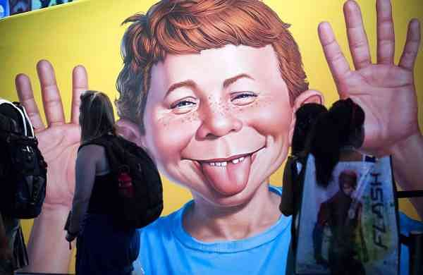2017 file photo: Alfred E Neuman (Kevin Sullivan/The Orange County Register via AP)
