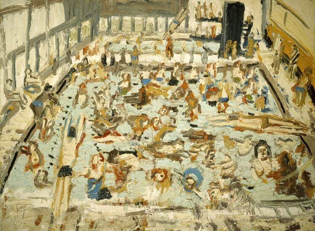 A painting by Leon Kossoff (Annely Juda Fine Art via AP)