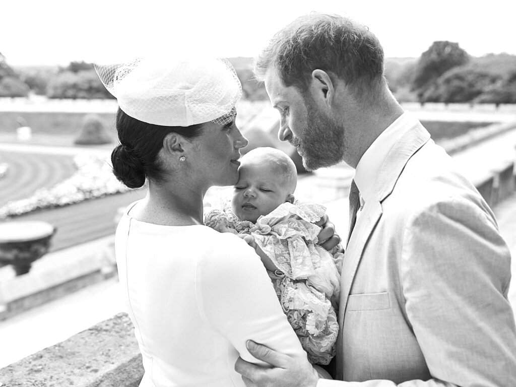 Britain's Prince Harry and Meghan, the Duchess of Sussex with their son Archie Harrison Mountbatten-Windsor (Chris Allerton/©SussexRoyal via AP)
