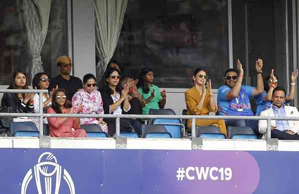 Leeds: Indian captain Virat Kohli's wife actress Anushka Sharma at Headingley Stadium in Leeds, England (Photo: Surjeet Yadav/IANS)