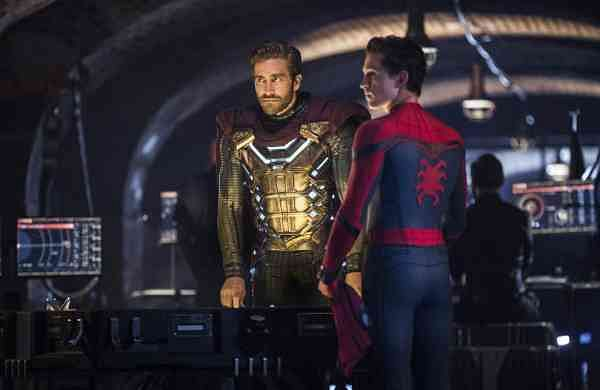 Sony Pictures image shows Jake Gyllenhaal and Tom Holland in a scene from Spider-Man: Far From Home (Jay Maidment/Columbia Pictures/Sony via AP)