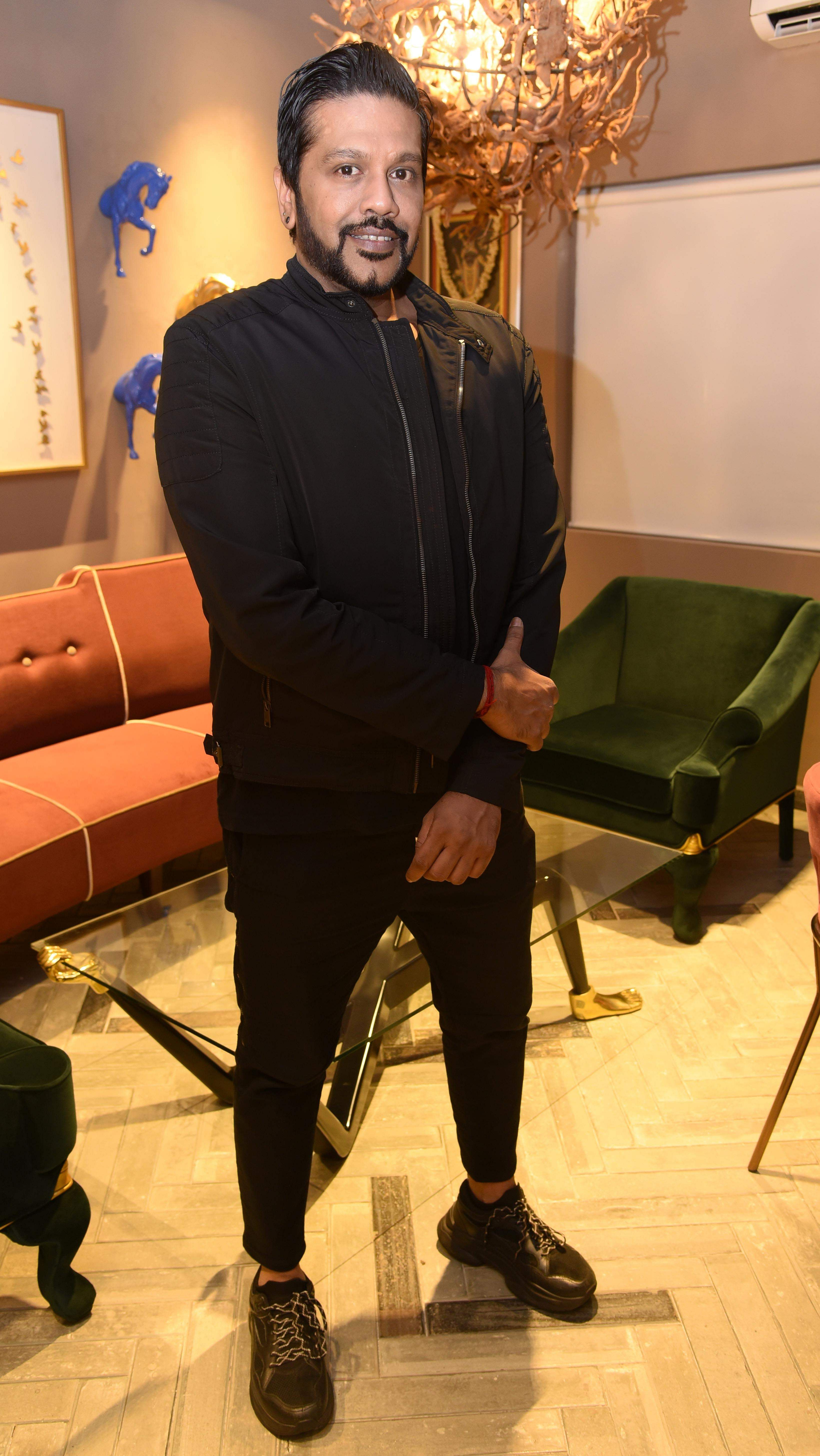 Rocky Star at the launch of his decor collection at Bent Chair