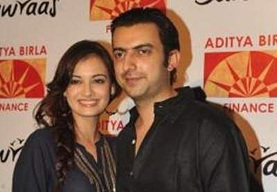 Dia Mirza with businessman Sahil Sangha (Photo: IANS)