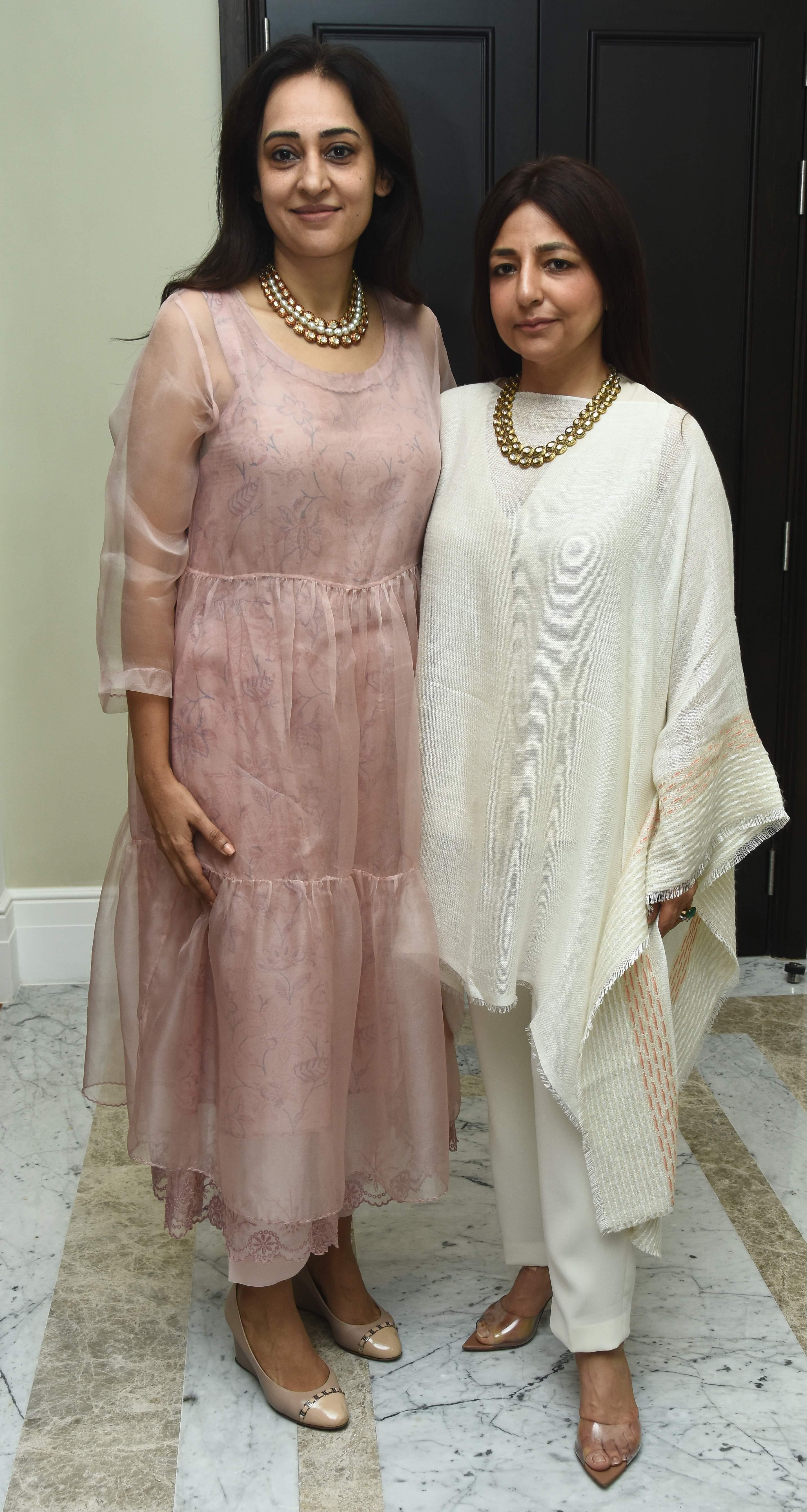 Deepali Goyal and Tina Malhotra at the trunk show in Taj Connemara