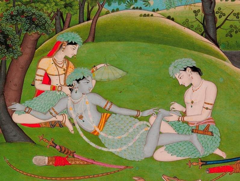 Rama, Sita and Lakshmana Begin their Life in the Forest (detail) / The Kronos Collections / Courtesy: The Metropolitan Museum of Art