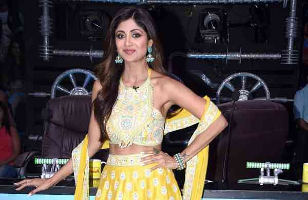 Shilpa Shetty on the sets of 'Super Dancer 3' in Mumbai, on April 1, 2019. (Photo: IANS)
