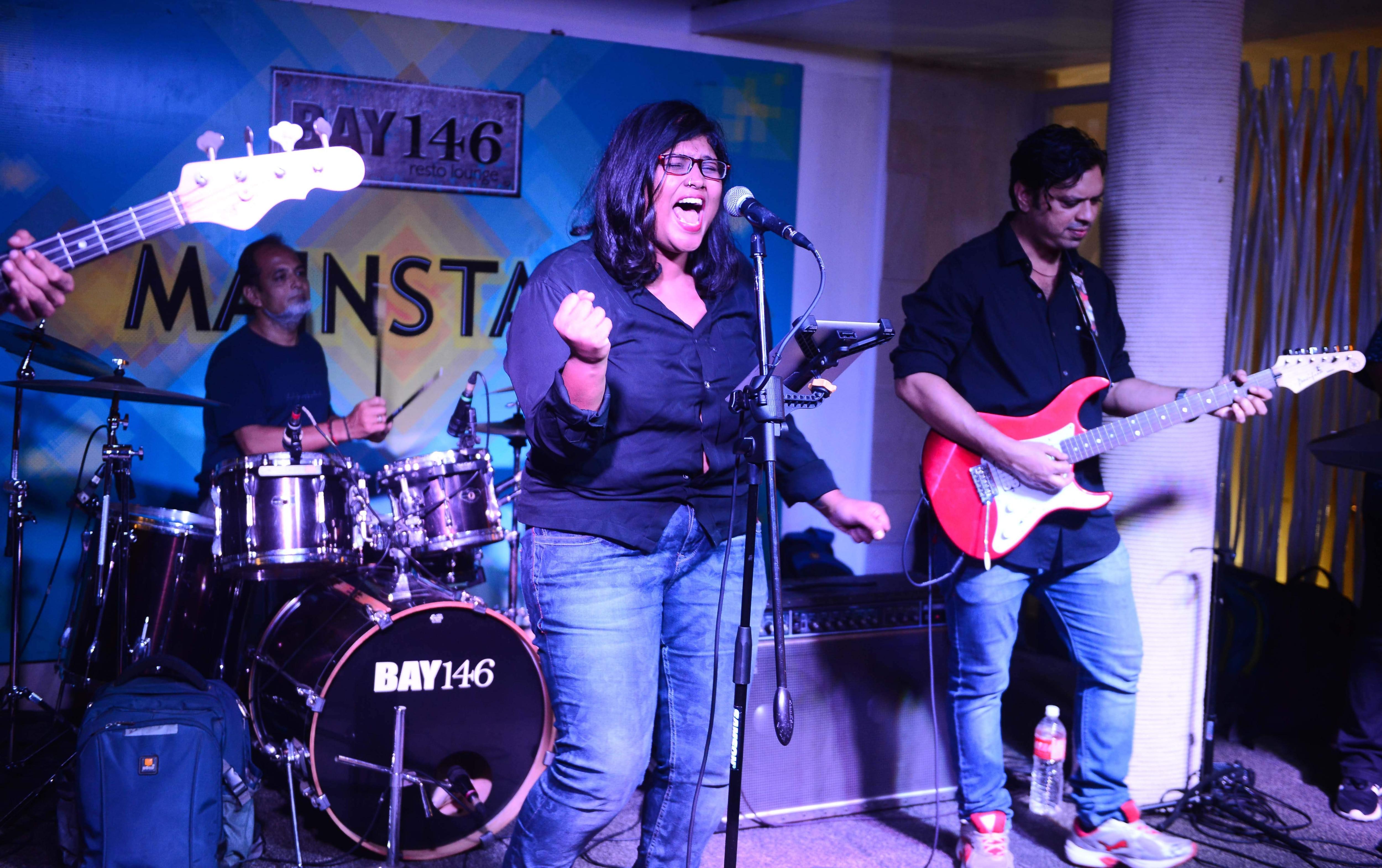 Indie band performing at Mainstage Fridays at  Bay 146