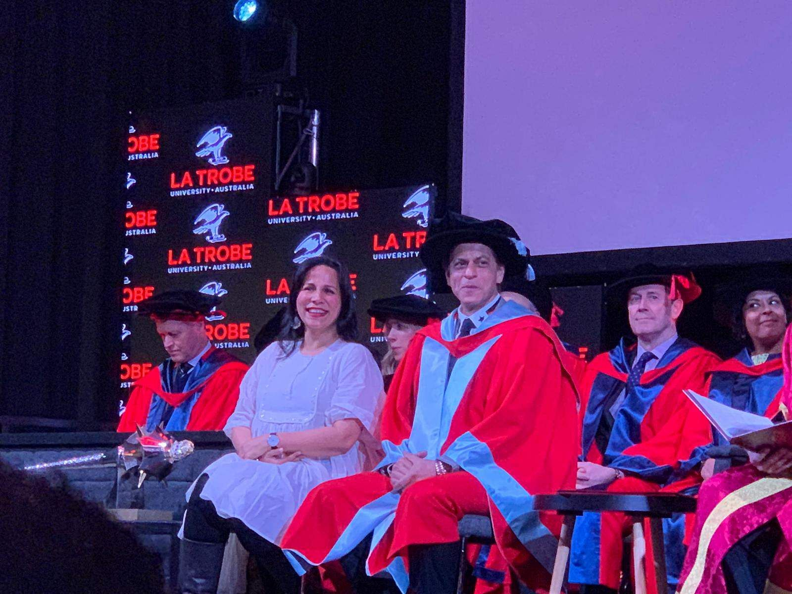 Shah Rukh Khan conferred with a doctorate degree