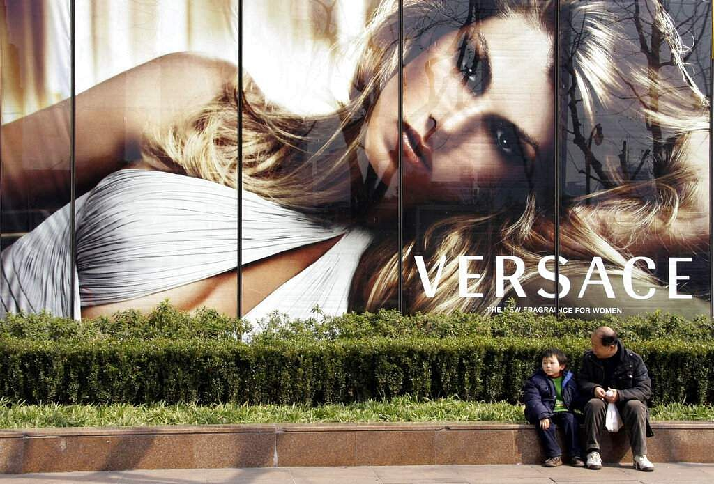 Versace ad in Shanghai, China (AP Photo/Eugene Hoshiko)