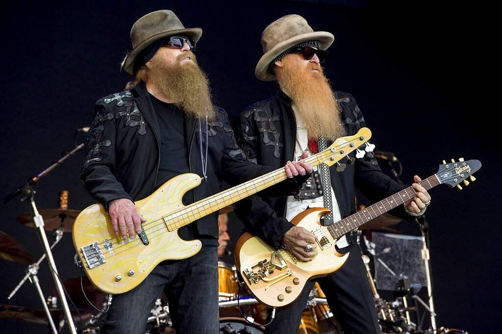 File photo: Dusty Hill and Billy Gibbons of ZZ Top (Photo by Jonathan Short/Invision/AP)