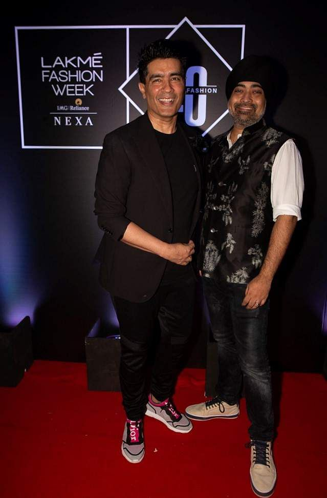 Pic_3-_Designer_Manish_Malhotra_and_Vice_President_and_Head_of_Fashion,_IMG_Reliance-_Jaspreet_Chandok_at_Lakmé_Fashion_Week_20_years'_celebration