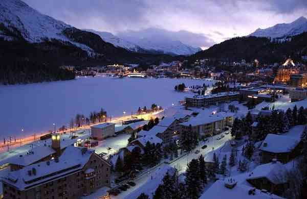 A view of St Moritz